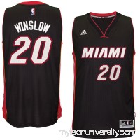 Men's Miami Heat Justise Winslow adidas Black Swingman Jersey -   2600087