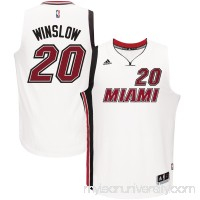 Men's Miami Heat Justise Winslow adidas White Alternate Swingman Jersey -   2633139