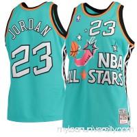 Men's Michael Jordan Mitchell & Ness Aqua 1996 NBA All-Star Game Hardwood Classics Authentic Jersey -   2564975
