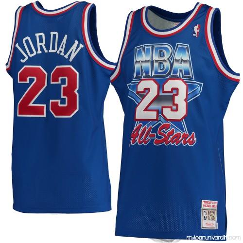 6a5480eda25 Men's Michael Jordan Mitchell & Ness Blue 1993 NBA All-Star Game Hardwood  Classics Authentic Jersey - 2456593