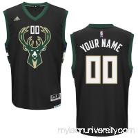 Men's Milwaukee Bucks adidas Black Custom Alternate Jersey -   2253938