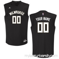 Men's Milwaukee Bucks adidas Black Custom Chase Jersey -   2652041