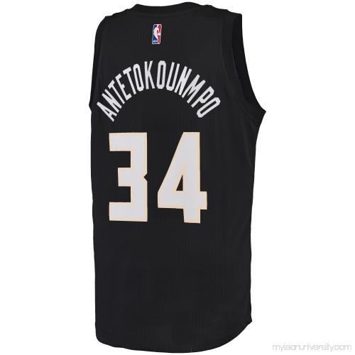 Men s Milwaukee Bucks Giannis Antetokounmpo adidas Black Fashion Swingman  Jersey - 2678818 790b48900
