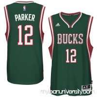 Men's Milwaukee Bucks Jabari Parker adidas Green Player Swingman Road Jersey -   1959401