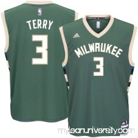 Men's Milwaukee Bucks Jason Terry adidas Green Road Replica Jersey -   2622773