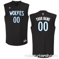 Men's Minnesota Timberwolves adidas Black Custom Chase Jersey -   2652042