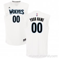 Men's Minnesota Timberwolves adidas White Custom Chase Jersey - 2654503
