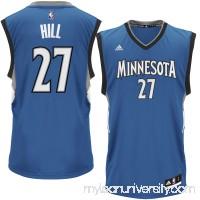 Men's Minnesota Timberwolves Jordan Hill adidas Royal Road Replica Jersey - 2624538