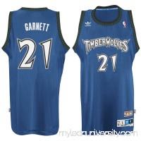 Men's Minnesota Timberwolves Kevin Garnett adidas Blue Hardwood Classic Swingman Jersey -   2148687