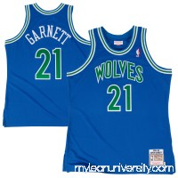 Men's Minnesota Timberwolves Kevin Garnett Mitchell & Ness Royal 1995/96 Hardwood Classic Authentic Jersey -   2602040