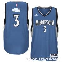 Men's Minnesota Timberwolves Kris Dunn adidas Blue Swingman climacool Jersey -   2600092