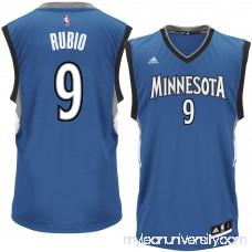 Men's Minnesota Timberwolves Ricky Rubio adidas Royal Replica Jersey - 2301659