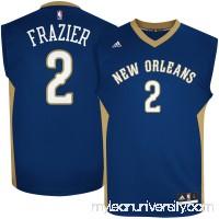 Men's New Orleans Pelicans Tim Frazier adidas Navy Road Replica Jersey - 2621520