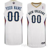 Men's New Orleans Pelicans White Custom Authentic Jersey -   1439869