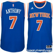 Men's New York Knicks Carmelo Anthony adidas Blue Player Swingman Road Jersey -   1959410