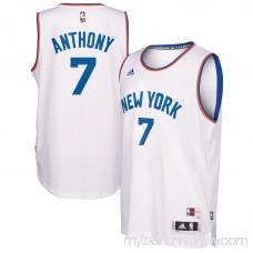 Men's New York Knicks Carmelo Anthony adidas White Hardwood Classics Swingman Player Jersey - 2446005
