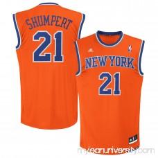 Men's New York Knicks Iman Shumpert adidas Orange Replica Jersey - 1963700