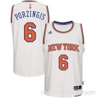 Men's New York Knicks Kristaps Porzingis adidas White Home Swingman Jersey -   2633140