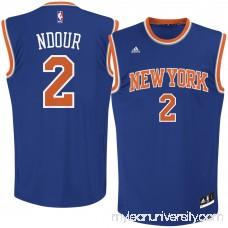 Men's New York Knicks Maurice Ndour adidas Royal Road Replica Jersey - 2621534