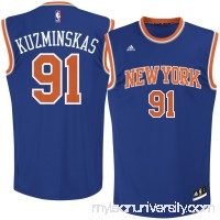 Men's New York Knicks Mindaugas Kuzminskas adidas Royal Road Replica Jersey -   2621533