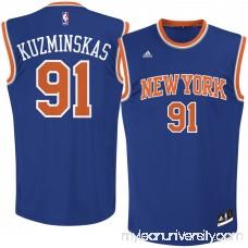 Men's New York Knicks Mindaugas Kuzminskas adidas Royal Road Replica Jersey - 2621533