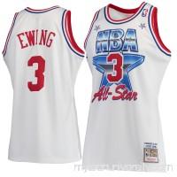 Men's New York Knicks Patrick Ewing Mitchell & Ness White Hardwood Classics 1991 All-Star Authentic Jersey -   2601139