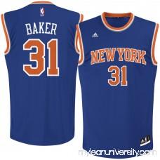 Men's New York Knicks Ron Baker adidas Royal Road Replica Jersey -   2621530
