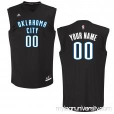 Men's Oklahoma City Thunder adidas Black Custom Chase Jersey -   2652045