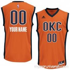Men's Oklahoma City Thunder adidas Orange Custom Alternate Jersey -   2253934