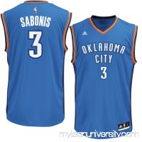 Men's Oklahoma City Thunder Domantas Sabonis adidas Blue Replica Jersey -   2626191