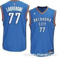 Men's Oklahoma City Thunder Joffrey Lauvergne adidas Blue Replica Jersey -   2626190