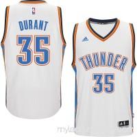 Men's Oklahoma City Thunder Kevin Durant adidas White Player Swingman Home Jersey - 1817199