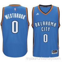 Men's Oklahoma City Thunder Russell Westbrook adidas Blue Player Swingman Road Jersey -   1817198