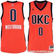 Men's Oklahoma City Thunder Russell Westbrook adidas Sunrise Alternate Swingman climacool Jersey -   2187633
