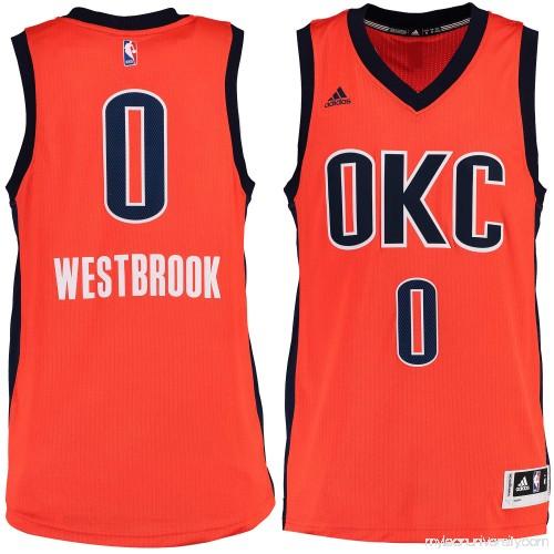 6239b396935f Men s Oklahoma City Thunder Russell Westbrook adidas Sunrise Alternate  Swingman climacool Jersey - 2187633