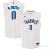 Men's Oklahoma City Thunder Russell Westbrook adidas White Fashion Replica Jersey -   2623929