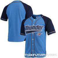 Men's Oklahoma City Thunder Starter Blue/Navy Baseball Jersey -   2655413