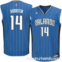 Men's Orlando Magic DJ Augustin adidas Royal Road Replica Jersey -   2622779