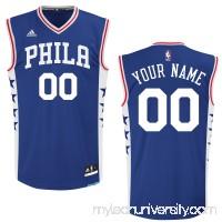 Men's Philadelphia 76ers adidas Royal 2015 Custom Replica Road Jersey -   2162620
