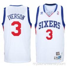 Men's Philadelphia 76ers Allen Iverson adidas White Hardwood Classics Swingman Jersey -   2035297