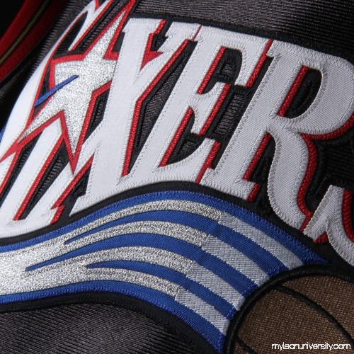 1dd5f5a1fe93 Men s Philadelphia 76ers Allen Iverson Mitchell   Ness Black 2000-01  Hardwood Classics Authentic Jersey - 2379835