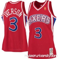 Men's Philadelphia 76ers Allen Iverson Mitchell & Ness Red 1996-97 Hardwood Classics Rookie Authentic Jersey -   2379834