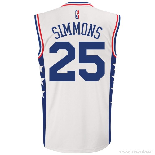 low priced 6899f 6a2bc Men's Philadelphia 76ers Ben Simmons adidas White Home ...