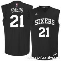 Men's Philadelphia 76ers Joel Embiid adidas Black Chase Fashion Replica Jersey -   2678391