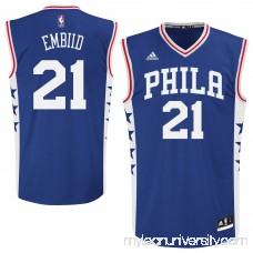 Men's Philadelphia 76ers Joel Embiid adidas Royal Replica Jersey - -   2110077