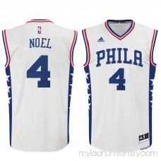 Men's Philadelphia 76ers Nerlens Noel adidas White Home Replica Jersey - 2215577
