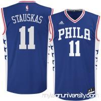 Men's Philadelphia 76ers Nik Stauskas adidas Royal Replica Jersey -   2264863
