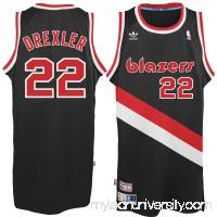Men's Portland Trail Blazers Clyde Drexler adidas Black Hardwood Classics Swingman Jersey -   2035306