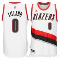 Men's Portland Trail Blazers Damian Lillard adidas White Swingman climacool Jersey -   2188893