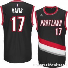 Men's Portland Trail Blazers Ed Davis adidas Black Replica Jersey - 2269633